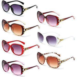 7 Vintage Oversized Sunglasses 100% UV Protection